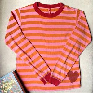 Striped Heart Long Sleeve Tee HANNA ANDERSSON 12